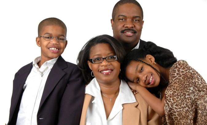 Family in Formal Attire